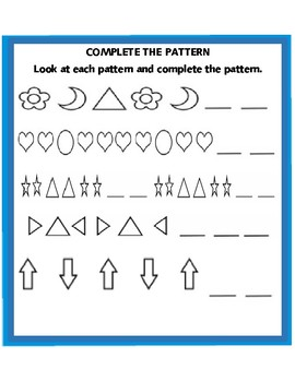 Kindergarten/First Grade Pattern Worksheets