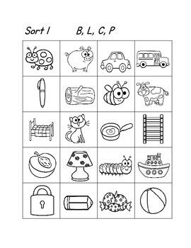 Kindergarten, First Grade Phonics Word Study Sorting Activities