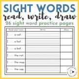|Kindergarten, 1st Grade| Read, Write & Draw Sight Word Se