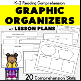 Kindergarten First Grade Reading Comprehension: Graphic Organizers and Plans