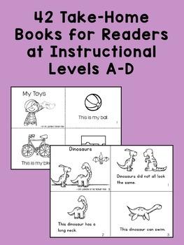 Kindergarten Homework - Reading BUNDLE {for Guided Reading levels A-D}