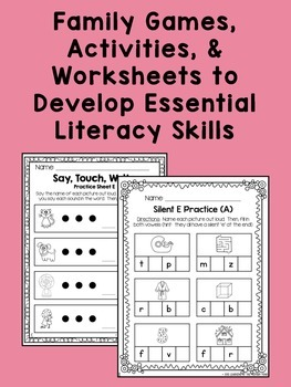 Kindergarten Homework - Reading BUNDLE {for Guided Reading levels A-E}
