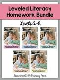 Kindergarten Homework - Reading BUNDLE {for Guided Reading levels A-E}