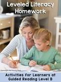Kindergarten Reading Homework & Take-Home Books {Guided Rdg Lvl B}