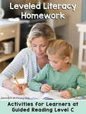 Kindergarten Reading Homework & Take-Home Books {Guided Rdg Lvl C}