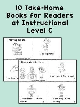 Kindergarten Reading Homework & Take-Home Books {Guided Rdg Lvl C}