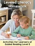 Kindergarten Reading Homework & Take-Home Books {Guided Rdg Lvl E}