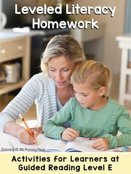 Kindergarten Reading Homework & Take-Home Books {Guided Rdg Lvl E}