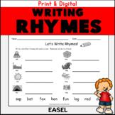 Kindergarten First Grade Rhyming Words Worksheets: Write a