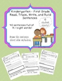 Kindergarten - First Grade Sentence Building Sheets