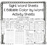 Editable Sight Word Worksheets - Free Sight Words List - C