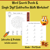 Summer Fun Interactive Literacy & Math Worksheets K-1st