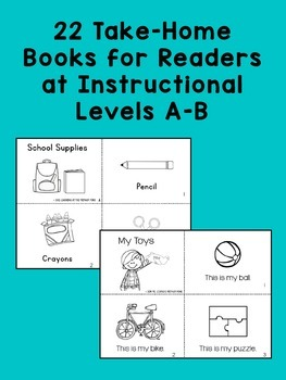 Take Home Books BUNDLE {for Guided Reading Levels A-B}