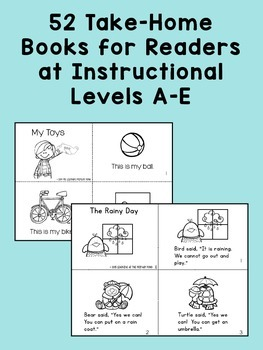Take Home Books BUNDLE {for Readers at Guided Reading Levels A-E}