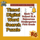 Kindergarten - First Grade Word Searches and Math Worksheets