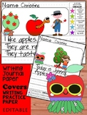 Kindergarten First Grade Writing Journal: Cutie Apples - pages, covers, rubric