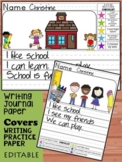 Kindergarten First Grade Writing Journal: Paper, Pages, Ce
