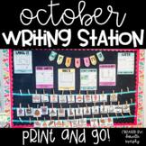 Kindergarten First Grade Writing Station October