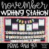 Kindergarten First Grade Writing Station November