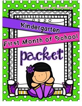 Kindergarten First Month of School Pack