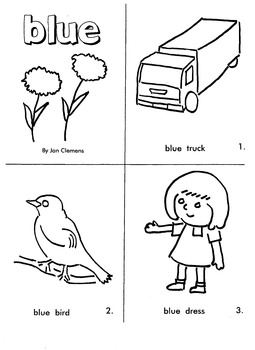 "Kindergarten Reading Book #1  ""Blue"""