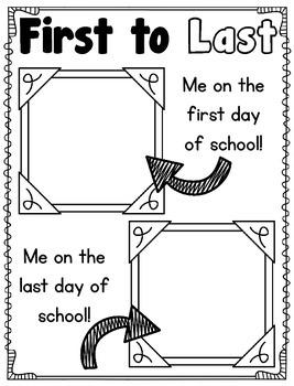 Kindergarten, First, Second Grade Year Long Memory Book