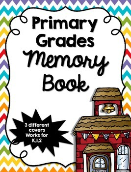 Kindergarten, First, Second Grade Year Long Memory Book