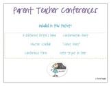 Kindergarten, First, Second, Third Grade Parent Teacher Co