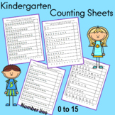 Activity Pack to Develop Rote Counting and Number Recognition