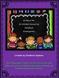 All About Me Interactive Notebook Kindergarten