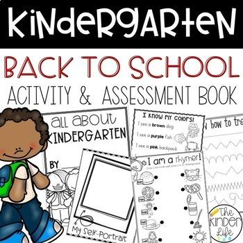 Kindergarten First Week of School Booklet and Teacher Assessment Sheet