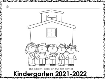 Kindergarten First Week of School - Name, Drawing, ABCs, Numbers
