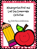 Kindergarten First and Last Day Activities
