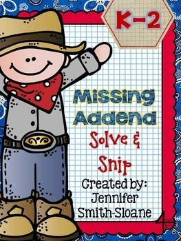 Kindergarten, First and Second Grade Solve and Snips Bundle