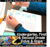 Kindergarten, First and Second Grade Solve and Snips® Bundle