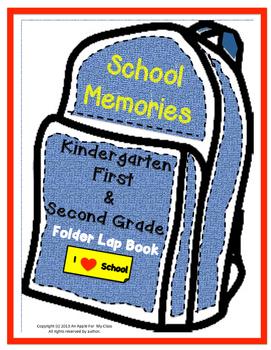 End of Year Memory Lapbook Kindergarten , First grade, Sec
