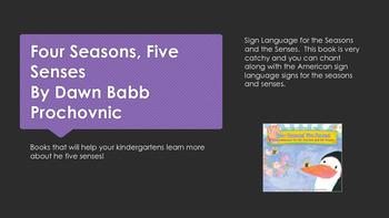 Kindergarten Five Senses Unit