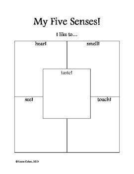 Kindergarten Five Senses Worksheet