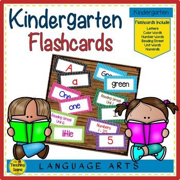 Kindergarten Flash Cards
