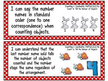 Kindergarten Florida LAFS & MAFS I Can Statements {Primary Polka Dots}