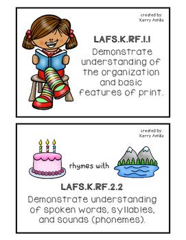 Kindergarten Florida Reading Standards