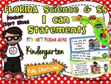 Kindergarten Florida Science & SS I Can Statements {Primary Polka Dots}