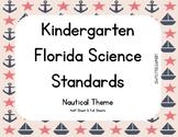 Kindergarten Florida Science Standards - Nautical Theme