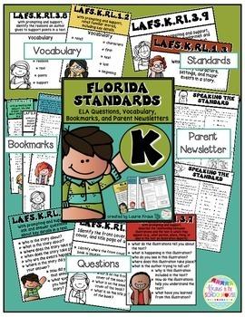 Kindergarten Florida Standards ELA Reading Literature and Informational Text