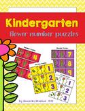 Kindergarten Flower Number Puzzles 1-10