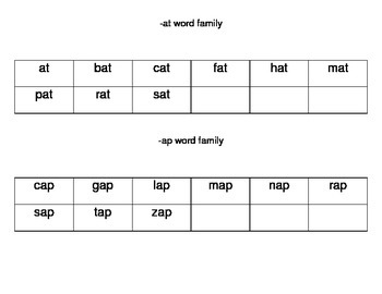 Kindergarten Fluency Folder