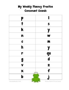 Kindergarten Fluency Folder for Weekly Fluency Practice