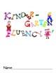 Kindergarten Fluency Task Cards