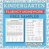 Kindergarten Fluency Homework Sampler (FREE)