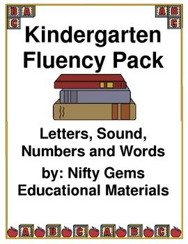 Kindergarten Fluency Pack